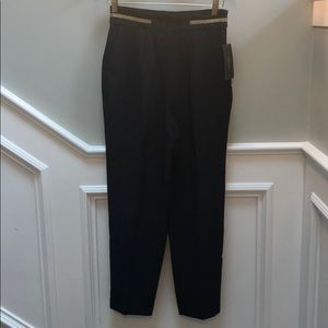Zara black slacks with gold stripe